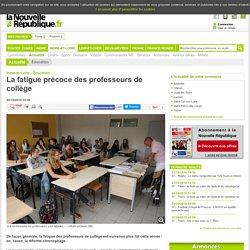La fatigue précoce des professeurs de collège - 20/10/2016