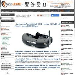 Lunettes vidéo Fatshark Attitude SD 5.8Ghz+ tx 5.8Ghz 250 mW.