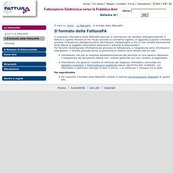 Fatturazione elettronica PA - Il formato della FatturaPA
