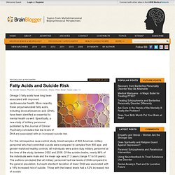 Fatty Acids and Suicide Risk