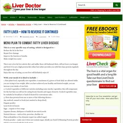 Fatty Liver – How to Reverse It Continued – Liver Doctor