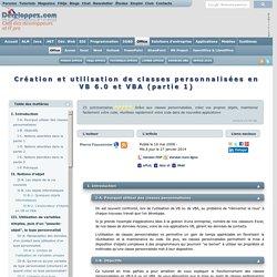 Pierre Fauconnier sur DVP: Classes personnalisées en VB(A)