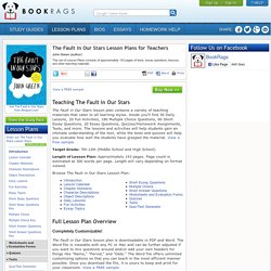 The Fault in Our Stars Lesson Plans for Teachers