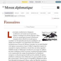 Faussaires, par Pierre Rimbert (Le Monde diplomatique, novembre 2019)