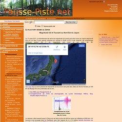 Magnitude 8,9 et Tsunami au Nord Est du Japon