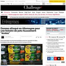 """Danone attaqué en Allemagne pour une histoire de pots faussement """"écolos"""""""