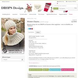 """Winter Charm - Bonnet et tour de cou DROPS en fausses côtes anglaises - avec m doubles, en """"Eskimo"""". - Free pattern by DROPS Design"""