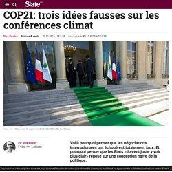 COP21: trois idées fausses sur les conférences climat