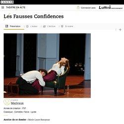 """Œuvre :""""Les Fausses Confidences"""",Auteur :""""Marivaux""""– Théâtre en acte"""