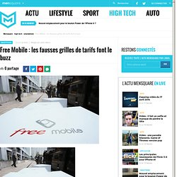 Free Mobile : les fausses grilles de tarifs font le buzz