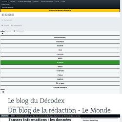 Fausses informations: les données du Décodex en2017