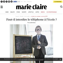 Faut-il interdire le téléphone à l'école?