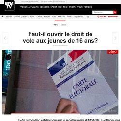 Faut-il ouvrir le droit de vote aux jeunes de 16 ans?