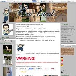 """Les plans du """"FAUTEUIL ADIRONDACK"""" en PDF - Eric bricol"""