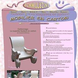 Gros fauteuil en carton - Claudie de Nîmes