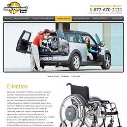 Fauteuil roulant E-Motion - Roues motorisées E-Motion
