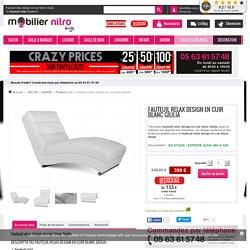 Fauteuil relax design en cuir blanc Giulia, un fauteuil de qualité et élégant