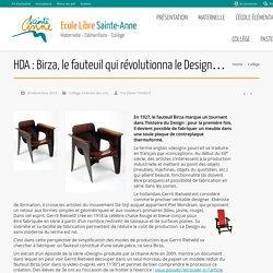 HDA : Birza, le fauteuil qui révolutionna le Design…