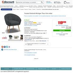 Fauteuil Switsofa Michigan Tissu Gris métal - Achat / Vente fauteuil Gris - Soldes* d'été Cdiscount