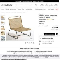 Fauteuil lounge théophane design e. gallina naturel Am.Pm