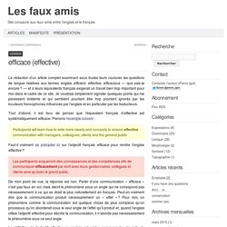 Les faux amis » efficace (effective)