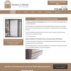 Affordable Faux Wood Blinds in The Woodlands
