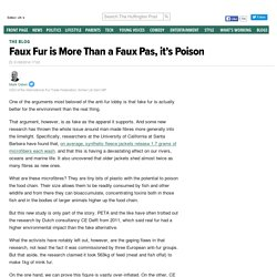 Faux Fur is More Than a Faux Pas, it's Poison