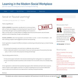 Social or Fauxial Learning?