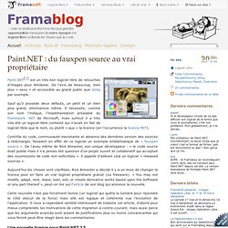 Paint.NET : du fauxpen source au vrai propriétaire