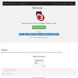 favico.js - Make use of your favicon