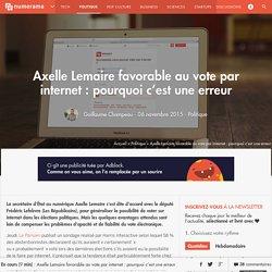 Axelle Lemaire favorable au vote par internet : pourquoi c'est une erreur - Politique