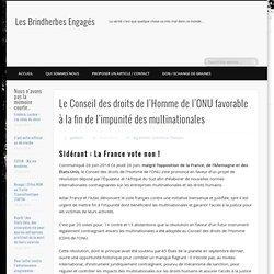 Le Conseil des droits de l'Homme de l'ONU favorable à la fin de l'impunité des multinationales