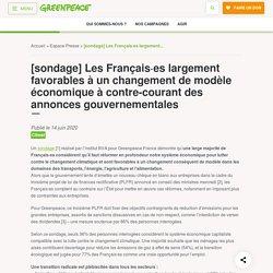 [sondage] Les Français·es largement favorables à un changement de modèle économique à contre-courant des annonces gouvernementales