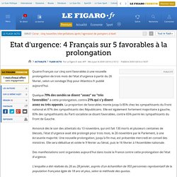 Etat d'urgence: 4 Français sur 5 favorables à la prolongation