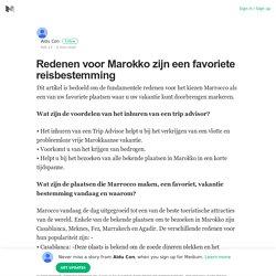 Redenen voor Marokko zijn een favoriete reisbestemming