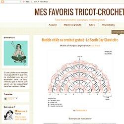 Modèle châle au crochet gratuit : Le South Bay Shawlette