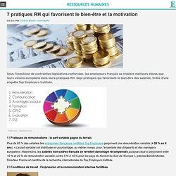 RH : 7 pratiques qui favorisent le bien-être et la motivation des salariés
