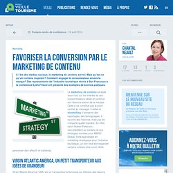 » Favoriser la conversion par le marketing de contenu