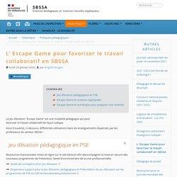 L' Escape Game pour favoriser le travail collaboratif en SBSSA