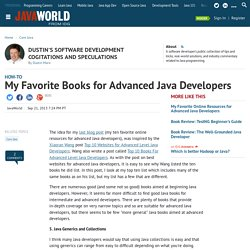 My Favorite Books for Advanced Java Developers