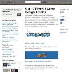 Our 10 Favorite Game Design Articles