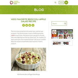 Kids Favorite Broccoli Apple Salad Recipe