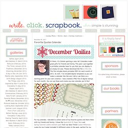 Favorite Quotes Calendar - Write. Click. Scrapbook.