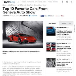 Top 10 Favorite Cars From Geneva Auto Show