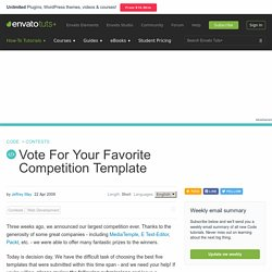 Vote For Your Favorite Competition Template - Nettuts+