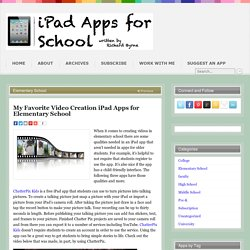 My Favorite Video Creation iPad Apps for Elementary School