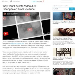 Why Your Favorite Video Just Disappeared From YouTube