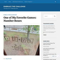 One of My Favorite Games: Number Boxes – Embrace the Challenge