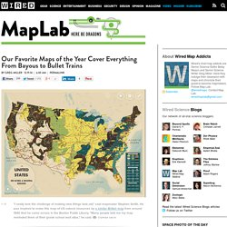 Our Favorite Maps of the Year Cover Everything From Bayous to Bullet Trains