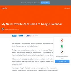 My New Favorite Zap: Gmail to Google Calendar